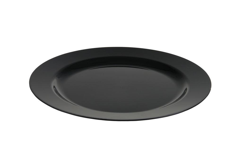 Afbeelding van Plastic borden luxe zwart