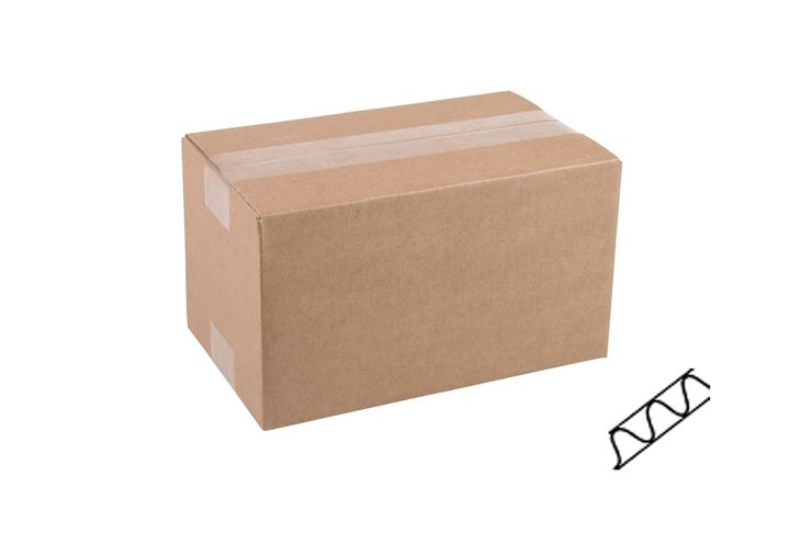 Afbeeldingen van Kartonnen dozen enkel golf bruin 10-25cm