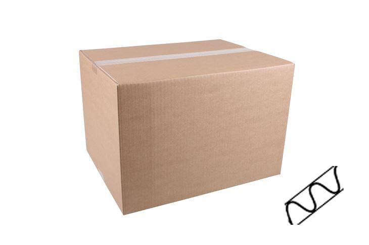 Afbeeldingen van Kartonnen dozen enkel golf bruin >40cm
